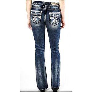 Rock Revival Glade Easy Bootcut Embellished Jeans